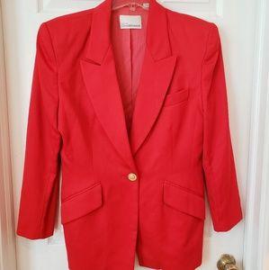 Dana Buchman Vintage Red Blazer